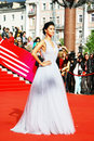 Supermodel ravshana kurkova at xxxvi moscow international film festival russia june actress red carpet opening ceremony Royalty Free Stock Photo