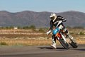 Supermoto championship albaida spain nov an unidentified pilot of motorcycling in the spanish of supermotard on november albaida Royalty Free Stock Images