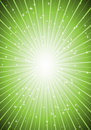 Supernova blast in green Stock Image