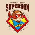 Superson logo Cartoon character superhero