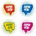 Superson logo superhero