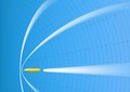 Supersonic bullet on a background a target Royalty Free Stock Photo
