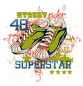 Superstars vector illustration ideal for printing on apparel clothes Royalty Free Stock Images