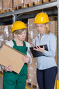 Supervision in manufacturing plant Royalty Free Stock Photo