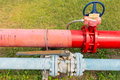 Supervisory main valve for water. Royalty Free Stock Photo