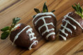 Supper bowl chocolate covered strawberries Royalty Free Stock Photo