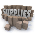 Supplies Cardboard Boxes Food Material Resources Needed Stock Ro Royalty Free Stock Images