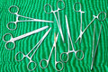 Supplies surgical instruments for surgery Royalty Free Stock Photo