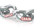 Supply chain broken links severed relationships the words promise on breaking apart to symbolize unfaithfulness violation mistrust Royalty Free Stock Photography