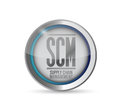 Supply chain management button illustration design over white Stock Images