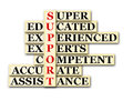 Support acronym concept of and other releated words Royalty Free Stock Photos