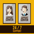 Support center design Stockbilder