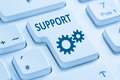 Support customer service help online internet blue computer keyb Royalty Free Stock Photo