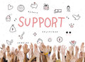 Support Donations Charity Foundation Concept Royalty Free Stock Photo