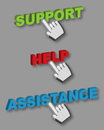 Support Help Assistance buttons Stock Photo
