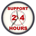 Support 24 hours. Watches with an inscription Royalty Free Stock Photo