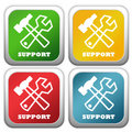 Support icons Royalty Free Stock Image
