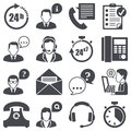 Support icons set business concept Royalty Free Stock Photo
