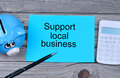 Support local business on paper Royalty Free Stock Photo