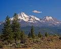 Support Shasta, montagnes de cascade, la Californie Photo libre de droits