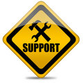 Support sign Royalty Free Stock Image