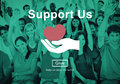 Support us Welfare Volunteer Donations Concept Royalty Free Stock Photo