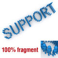 SUPPORT word mounted by tiny characters Royalty Free Stock Photo