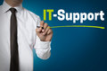 It support is written by businessman background Royalty Free Stock Photo