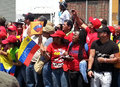 Supporters of Hugo Chavez Stock Photos