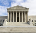 Supreme court building in washington dc with a blue sky background Stock Photo