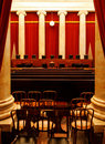 The supreme court chamber of of united states Royalty Free Stock Images