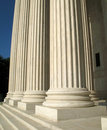 Supreme Court Pillars Royalty Free Stock Image