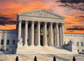 Supreme court sunrise the united states building with sky Stock Photos