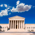 Supreme court united states building washington of in dc Royalty Free Stock Photos