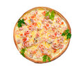 Supreme Pizza  isolated Royalty Free Stock Photo