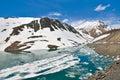 Suraj Taal Lake at Baralacha La, Lahaul-Spiti, Himachal Pradesh. India Royalty Free Stock Photo