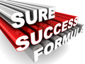 Sure success formula Royalty Free Stock Photo