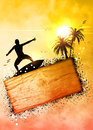 Surf background Royalty Free Stock Photo