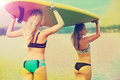 Surf board or stand up paddle board paddleboard women Royalty Free Stock Images