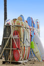 Surf boards for rent in Hawaii Royalty Free Stock Photo