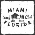 Surf club concept. Royalty Free Stock Photo