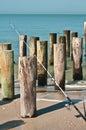 Surf fishing rod Royalty Free Stock Photo