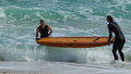 Surf Girls Along Beach Shore Royalty Free Stock Photo