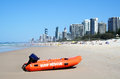 Surf Rescue Boat Surfers Paradise Stock Images