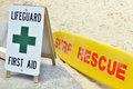 Surf Rescue and first aid Stock Photos