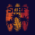 Surf typography poster. T-shirt fashion Design.