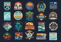Surf Vector Patch Emblem Set. Royalty Free Stock Photo
