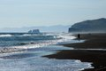 Surf very big beach pacific ocean east coast of peninsula kamchatcka Stock Image