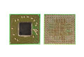 Surface mount integrated circuit chip top and bottom Royalty Free Stock Images