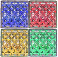 surface red green blue yellow glass block in square style Royalty Free Stock Photo